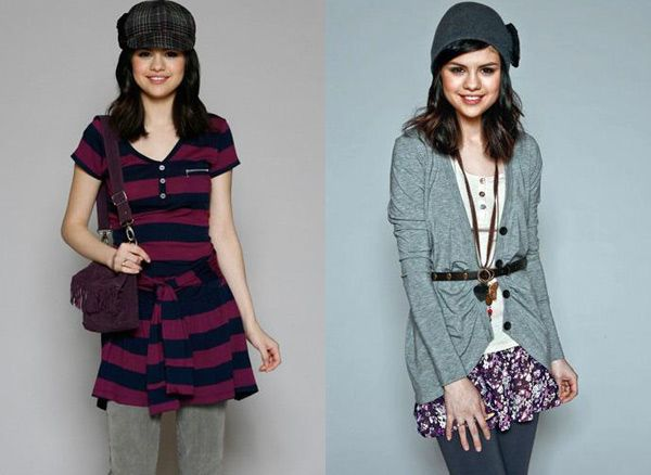 Selena Gomez wearing clothes from her exclusive clothing line