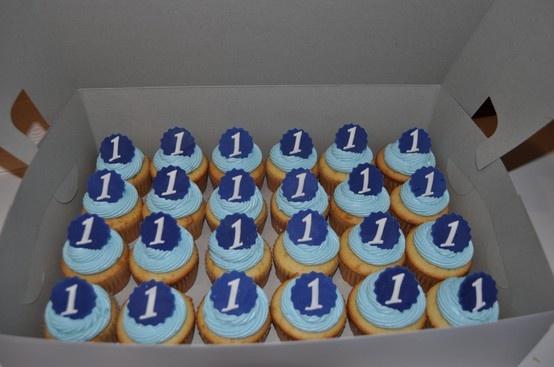 Boy 1st Birthday Cupcakes 1st Birthday Ideas Pinterest