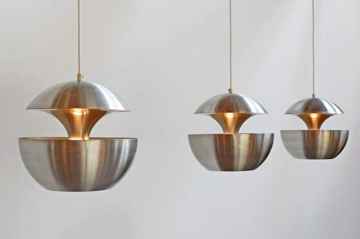 "b22-design: "" pendants - 'Fountain Head' - 1960 Design: Bertrand Balas for RAAK Holland photo: B22 Design """