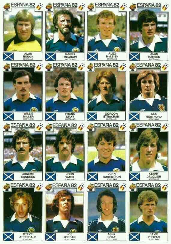 Scotland stickers for 1982.