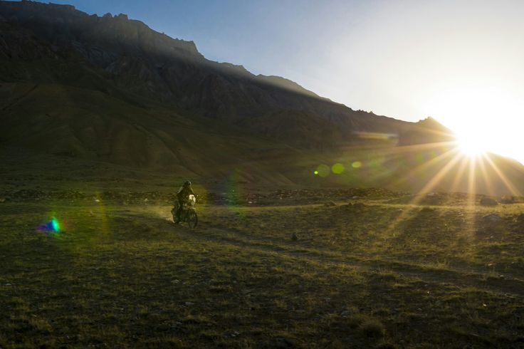 Chasing the sunset with a Royal Enfield Himalayan by Lifeworks Studios.