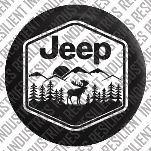 Jeep Wrangler Spare Tire Cover Moose Adventure Badge Jk T…