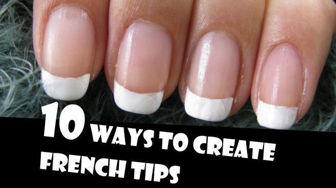 Fransız Manikürü 10 Şekilde Yapma Yöntemi - Evde hızlı ve kolay bir şekilde uygulayabileceğiniz fransız manikürü 10 şekilde yapma tekniği (10 Ways To Create French Tips Manicure Nail Art Video)