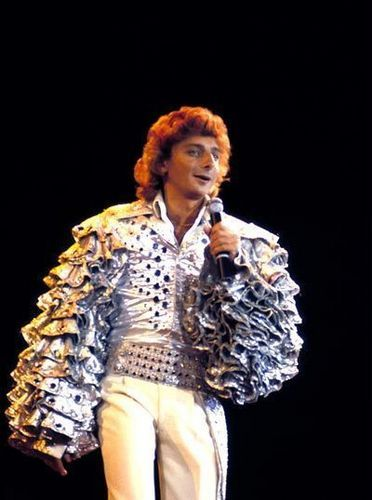 BARRY MANILOW////MOTHER AND I WENT TO HIS CONCERT AT THE COLISEUM FOR HER BIRTHDAY. THIS LOOKS LIKE WHAT HE WORE WHEN HE SANG COPA COBANA.... FUN!