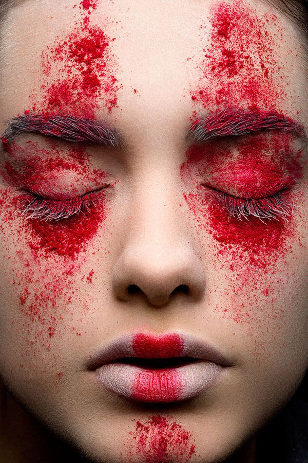 Pin by Sari Tarvonen on Red Makeup photography, Makeup