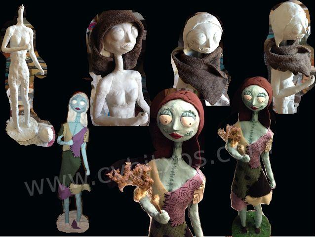 Creando a Sally, de Pesadilla Antes de Navidad - Creating Sally, from Nightmare Before Christmas