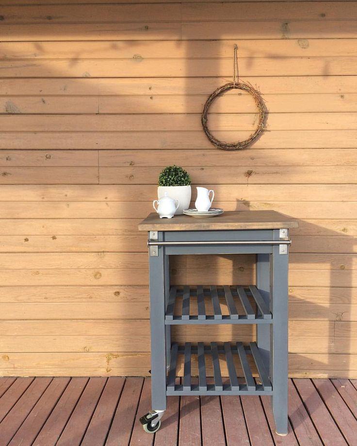 9 mentions J'aime, 1 commentaires – Roméo&Flavie (@romeoetflavie) sur Instagram : «Petite desserte IKEA transformée. Couleur anthracite. Dimensions: 24 large x 33 haut x 19 profond.…»