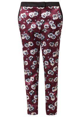 Spodnie materiałowe - burgandy floral