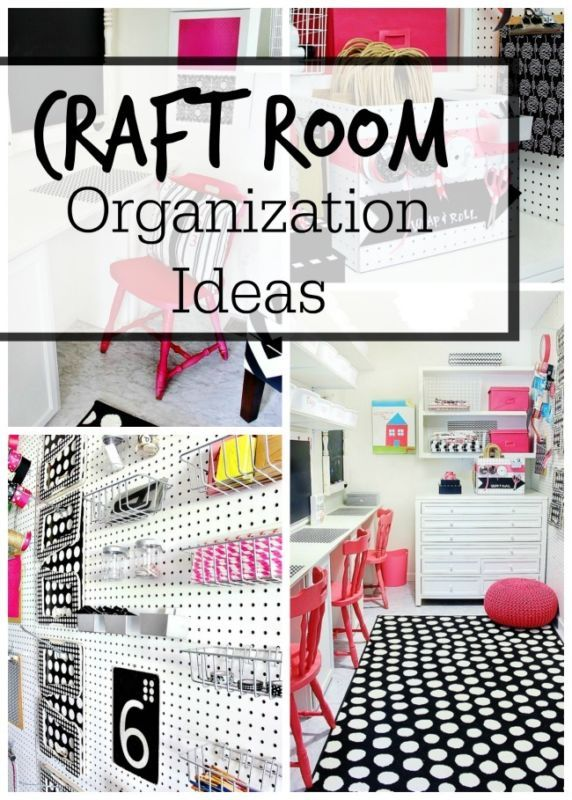 Easy organization ideas for your room or craft space.  What to do with all those extra craft supplies.