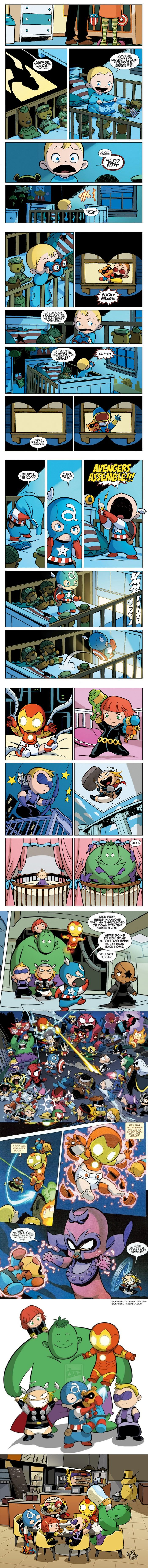 Baby avengers <--- Gotta do some research. I've seen this art before, and I suspect this is stolen.