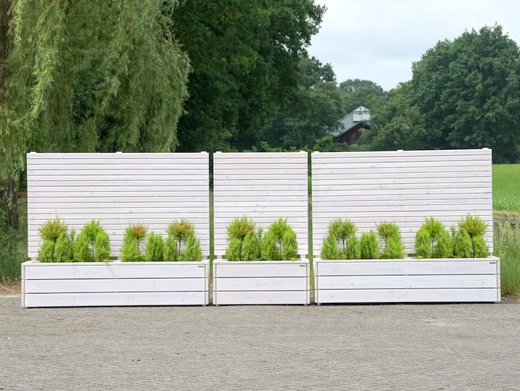 54 besten Sichtschutz mit Pflanzkasten aus Holz, Länge 212 cm - mobiler sichtschutz garten