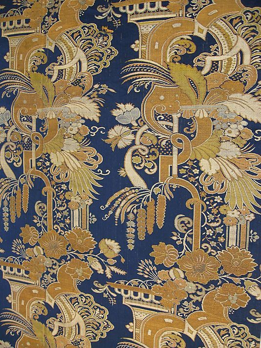"""A Small Number Of Chinese Textiles Were Based On European """"bizarre Simple Chinese Fabric Patterns"""