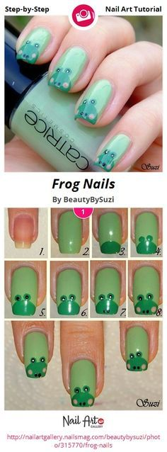 Frog Nails by BeautyBySuzi - Nail Art Gallery Step-by-Step Tutorials nailartgallery.nailsmag.com by Nails Magazine www.nailsmag.com #nailart