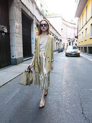 Wait and See presents ALYSI jacket JUST IN CASE top TELA skirt MERCULES bag BOSABO shoes