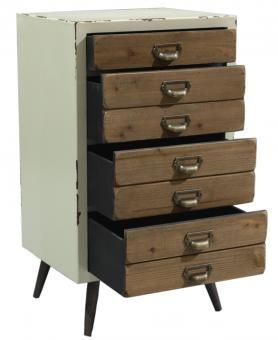 JANIS FOUR DRAWER UNIT CREAM. A Block and Chisel Product.