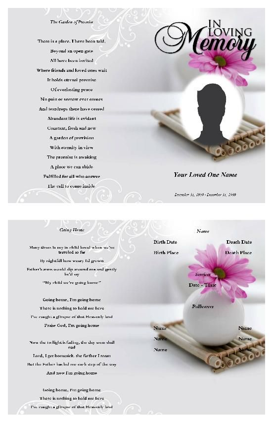 91 best Funeral Program Template images on Pinterest Christmas - funeral program template free download