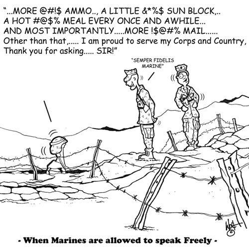 When #Marines are allowed to speak #freely #USMC #humor #MarineCorps #reality #funny #devildog #jarhead #thefewtheproud #veteran #activeduty #reservist #Marine #greenwiener #enlisted #military #usa #desert #woodland #camouflage #range #duty