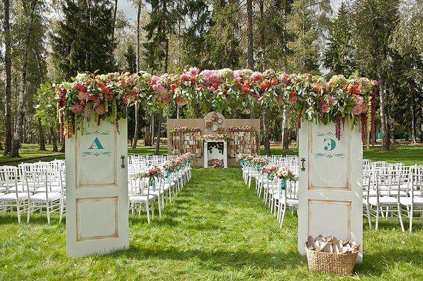 Очень красивое оформление свадьбы....
