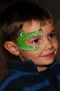 Alligator Face Painting.