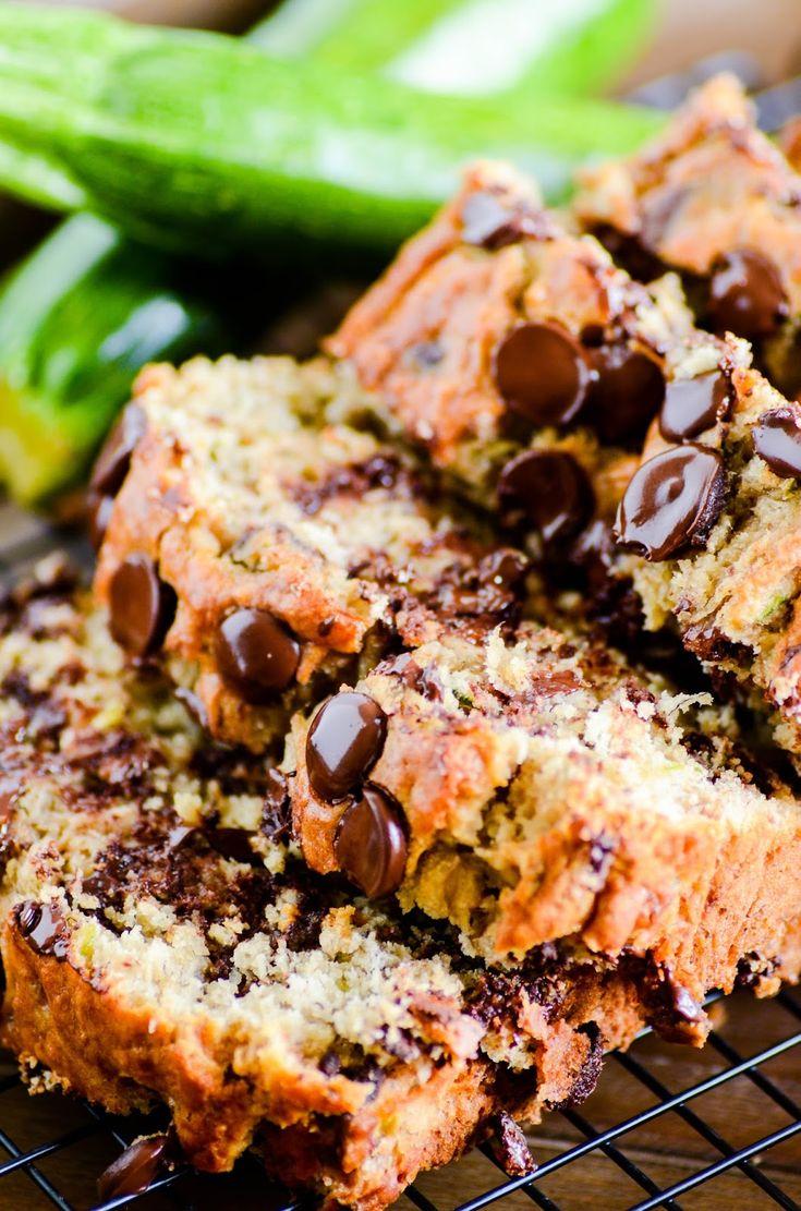 chocolate chip banana zucchini bread  recipe  chocolate