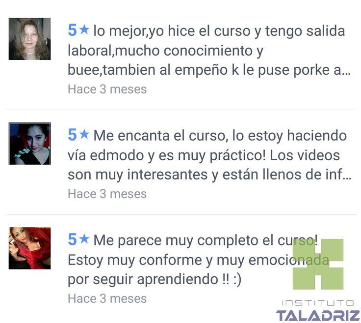 Muchas gracias por tan buenas opiniones! #InstitutoTALADRIZ #SergioTALADRIZ #auxiliardefarmacia #secretariadomedico