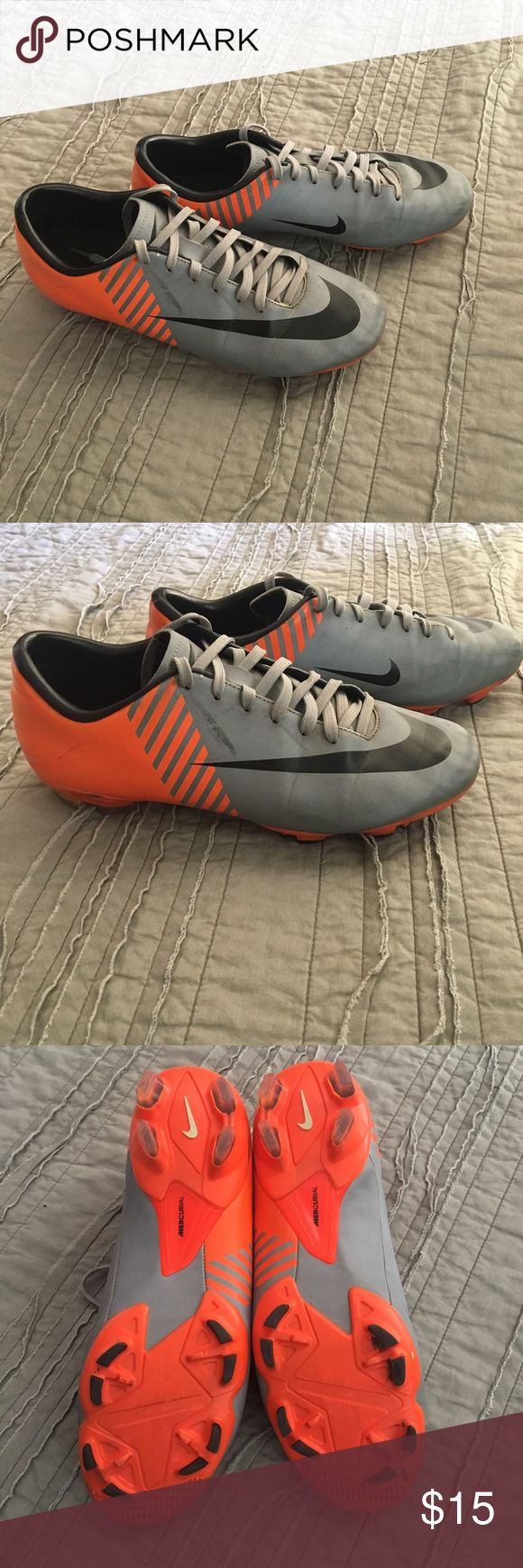 Nike Soccer Cleats Nike soccer cleats men size 7.5  Will clean before shipping. Used but still in great condition. Smoke free environment. Any questions please ask. First come first serve. Nike Shoes Athletic Shoes