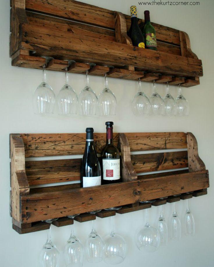 17 best ideas about homemade wine racks on pinterest for Easy wine rack