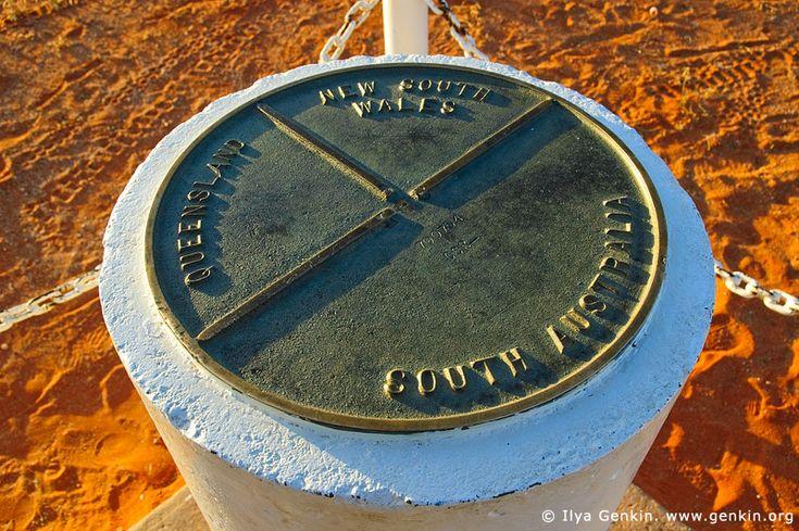 Three States Pole at Cameron Corner, Cameron Corner, NSW/QLD/SA, Australia.