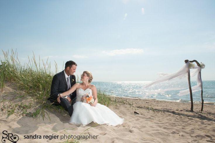 Beach wedding - Grand Bend  Ontario - www.sandraregier.com  Summer 2013 - I saw my dream wedding on the tower in Grand Bend - someday