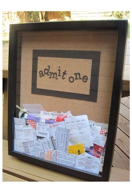 Really cool idea for movie tickets and such