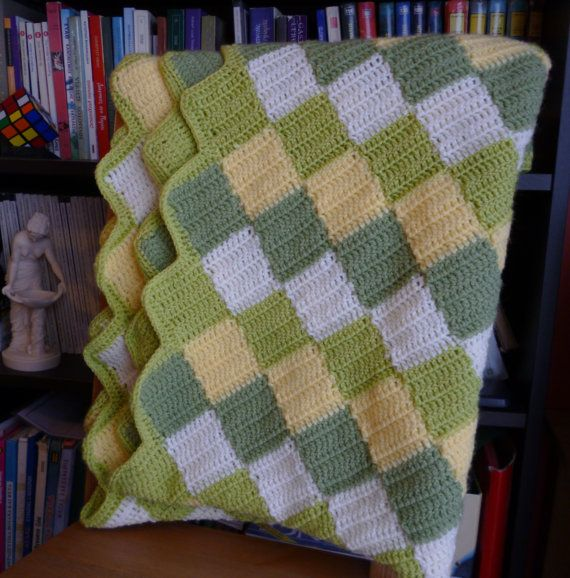 Baby blanket/Crochet baby blanket/Throw by HeartMadeByMarina