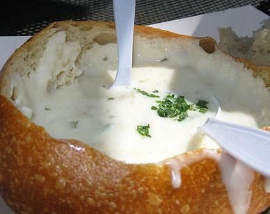 monterey clam chowder :: from disneyland  Pacific Wharf Cafe in Disneyland                  ::  this site has all disney recipes