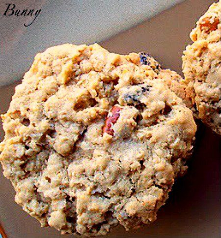 Soft and Chewy Oatmeal Raisin Pecan Cookies