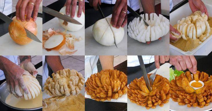 Onion's Flower Idea - Food Style http://www.fooodstyle.com/2014/08/onions-flower-idea.html HEREʻS A VIDEO BY POPSUGAR: http://www.youtube.com/watch?v=WG05FfeitsY