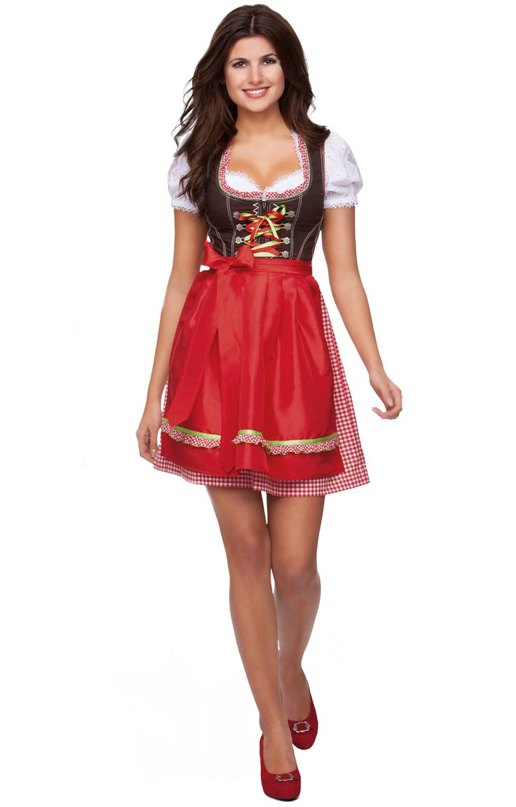 trachten mini dirndl kurz 2tlg juno rot 50cm dirndl. Black Bedroom Furniture Sets. Home Design Ideas