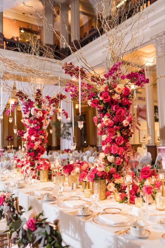 A Fuchsia Dream Linen Effects Wedding Party And Event Rental Decor Located In Minneapolis Mn Www Lineneff In 2020 Wedding Rentals Rental Decorating Ceiling Decor