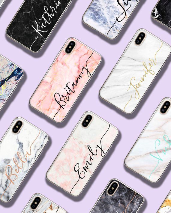 Custom Name Apple iPhone se 2020 Case iPhone 11 Pro Max iPhone X XS Max Personalized Custom Name Marble Airpod Pro Case and iPhone Case