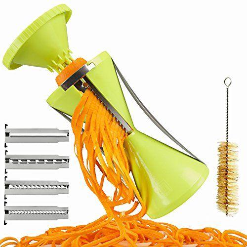 Brieftons NextGen Spiralizer: 4-Blade Vegetable Spiral Slicer, 150% Bigger, 50% Less Wastage, Perfect Veggie Spaghetti/Pasta Maker Brieftons http://smile.amazon.com/dp/B00PQKB2NI/ref=cm_sw_r_pi_dp_05cewb0YCJHG4