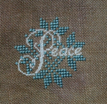 Peace Pin Button by Jeannette Douglas from Just Cross Stitch Ornament Issue 2012