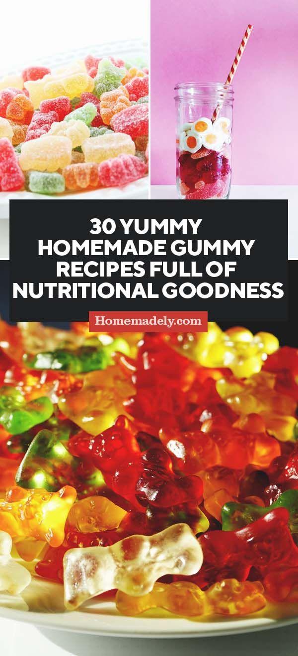 30 Yummy Homemade Gummy Recipes Full of Nutritional Goodness | Kids | Homemade gummies, Candy recipes, Recipes