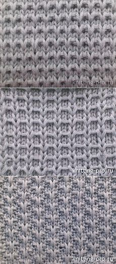 Узоры с вытянутыми (снятыми) петлями.