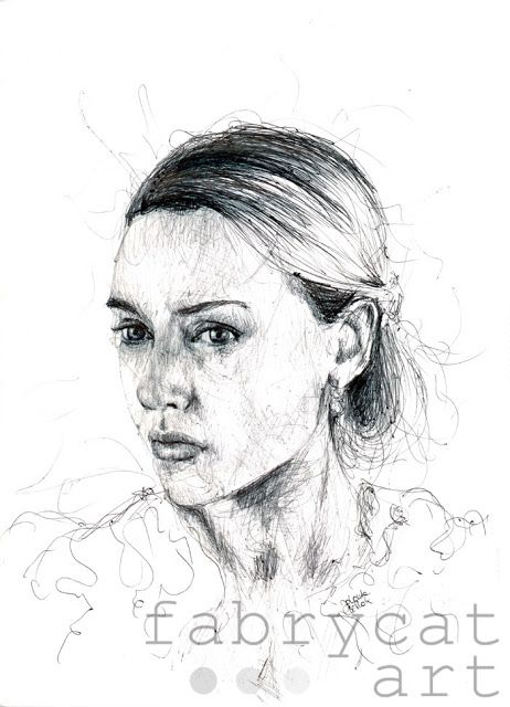 Kate Ballpoint pen drawing