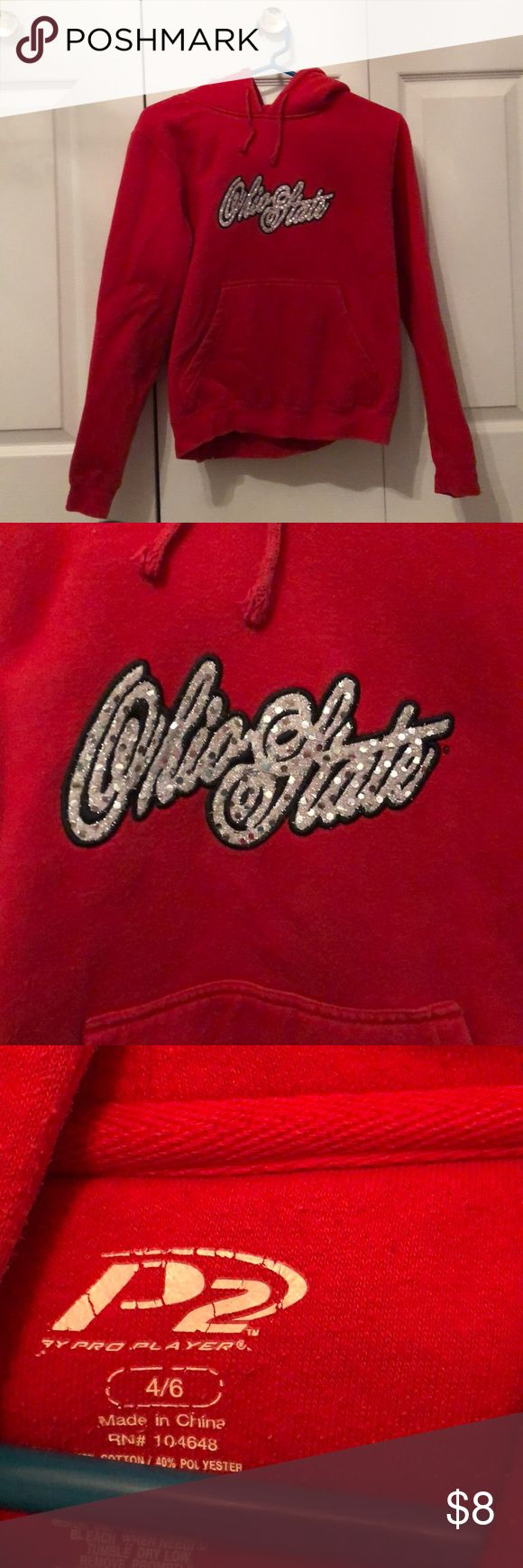 Ohio State Hoodie a hoodie that's perfect for any ohio state fan! in excellent condition! Pro Player Tops Sweatshirts & Hoodies