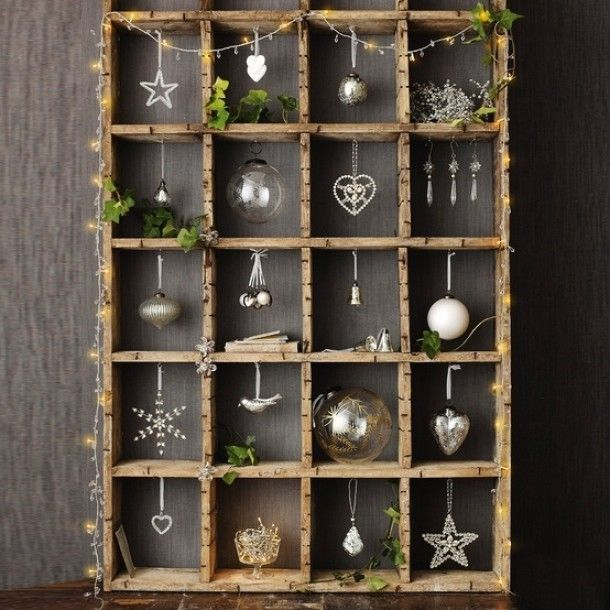 nice for christmas  do this with white shadow box I have for an all season thru out the season decor idea
