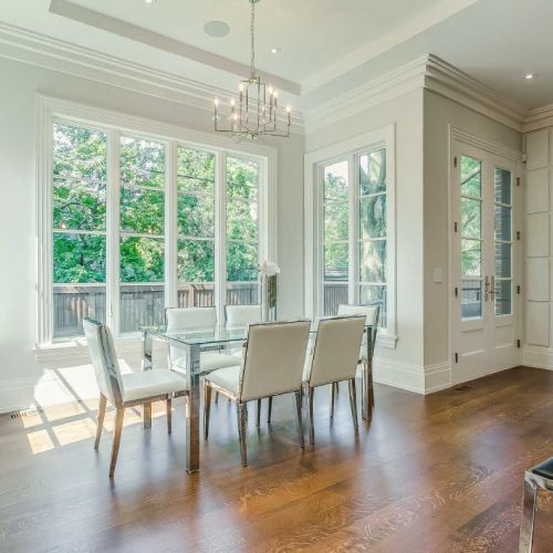 Residential architecture by Toronto architect, Lorne Rose. These images are of a property in the Forest Hill neighbourhood of Toronto. #architecture #toronto #luxury #home #renovation #residentialarchitect #architect #modern #foresthill #interior #design #decoration #interiordesign #interiordecorating #chairs #table #window #naturallight #lovely #peaceful