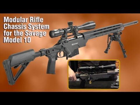 APO's Folding Rifle Stock Upgrades Savage Model 10 | The Saber Modular Rifle Chassis System for the Savage Model 10 short-action calibers from Ashbury Precision Ordnance, scores off the charts with adjustable ergonomic design. | © Guns Magazine 2016