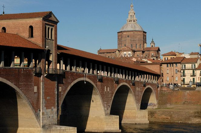 Pavia's Covered Bridge (Italy). www.italianways.com/pavias-covered-bridge-and-the-archangels-wit/