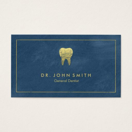 293 best dentist business cards images on pinterest blue teeth blue canvas golden frame tooth dentist appointment card colourmoves