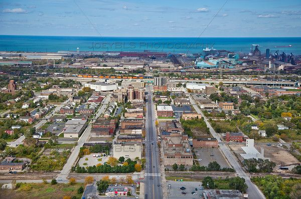 Aerial Photo Of Downtown Gary Aerial Photo Aerial Gary Indiana