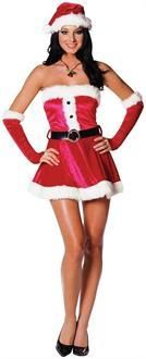 Women's Santa's Sweetie Red Adult Costume for Christmas & Holiday #santa #christmas